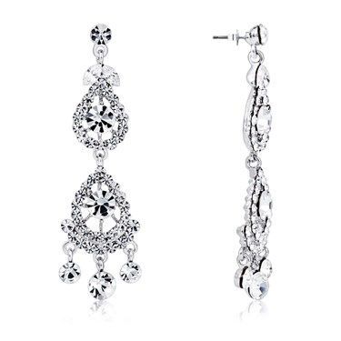August Woods Silver Vintage Statement Earrings  - Click to view larger image
