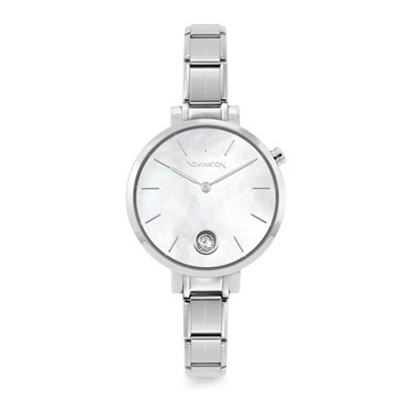 Nomination Silver Paris Mother Of Pearl Crystal Watch   - Click to view larger image