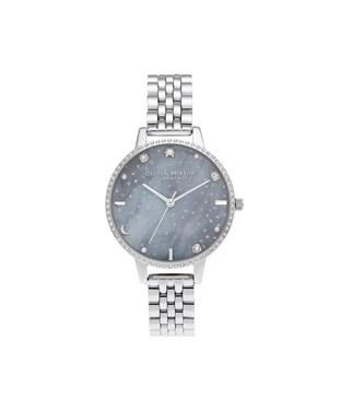 Olivia Burton Silver Night Sky Bracelet Watch  - Click to view larger image