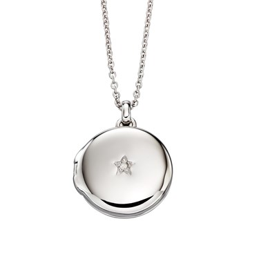 Little Star Adriana Diamond Locket  Necklace  - Click to view larger image
