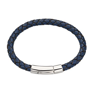 Little Star Andre Boys Blue Leather Bracelet  - Click to view larger image