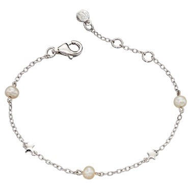 Little Star Anja Freshwater Pearl  Star Bracelet  - Click to view larger image
