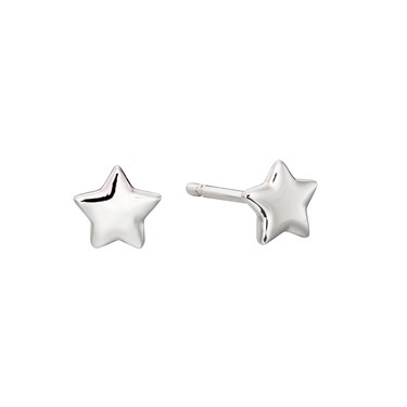 Little Star Ava Plain Star Stud Earrings   - Click to view larger image