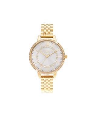 Olivia Burton Wonderland Sunray Gold Bracelet Watch  - Click to view larger image