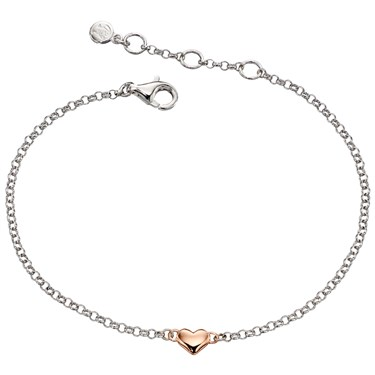 Little Star Childrens Georgiana Rose Heart Bracelet  - Click to view larger image