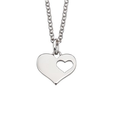 Little Star Adults Hanneli Open Heart Necklace  - Click to view larger image