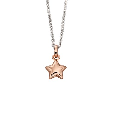 Little Star Childrens Harper Mixed Metal Star Necklace  - Click to view larger image