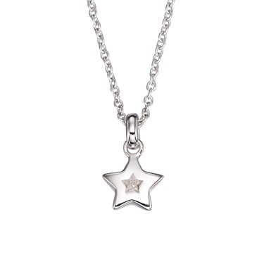 Little Star Kirsty Diamond Star Necklace  - Click to view larger image