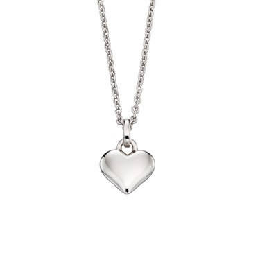 Little Star Mia Plain Heart Necklace  - Click to view larger image