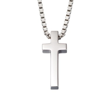 Little Star North Mens Cross Necklace  - Click to view larger image