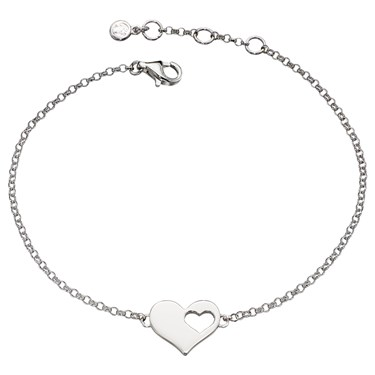 Little Star Adults Poppy Open Heart Bracelet  - Click to view larger image