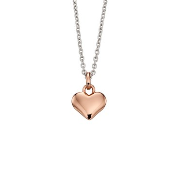 Little Star Childrens Skyler Mixed Metal Heart Necklace  - Click to view larger image