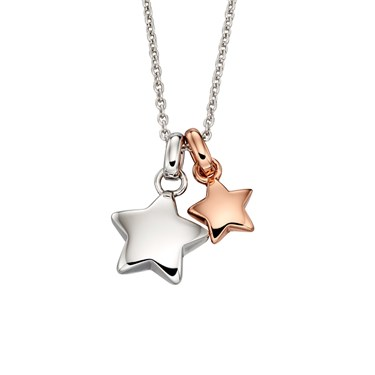 Little Star Suki Double Star Necklace  - Click to view larger image