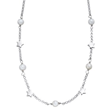 Little Star Tatiana Freshwater Pearl  Star Necklace  - Click to view larger image