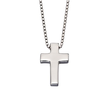 Little Star Thom Boys Cross Necklace    - Click to view larger image
