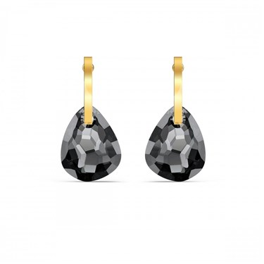 Swarovski T Bar Grey & Gold Earrings  - Click to view larger image