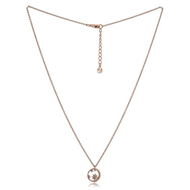 Argento Rose Gold Star Crystal Necklace  - Click to view larger image