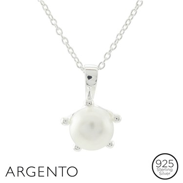 Argento Pearl Silver Necklace