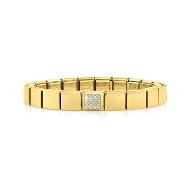 Nomination GLAM Gold Crystal Bracelet  - Click to view larger image