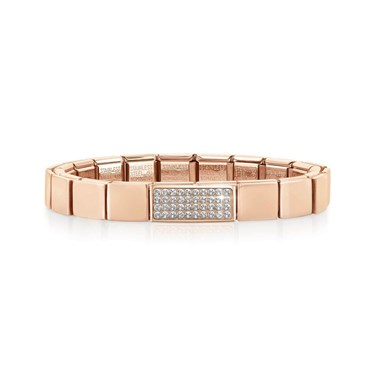 Nomination GLAM Rose Gold Double Crystal Bracelet   - Click to view larger image