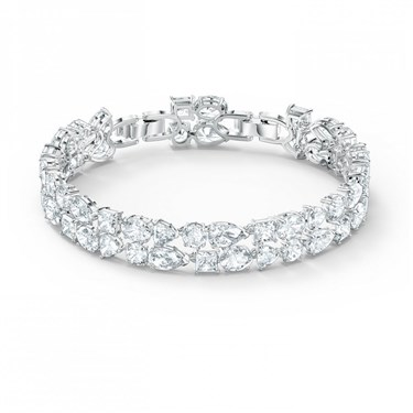 Swarovski Tennis Deluxe Silver Double Bracelet   - Click to view larger image