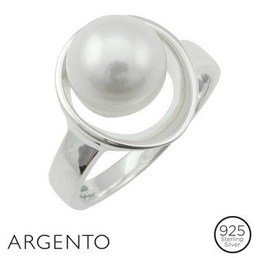 Argento Pearl Silver Oval Ring