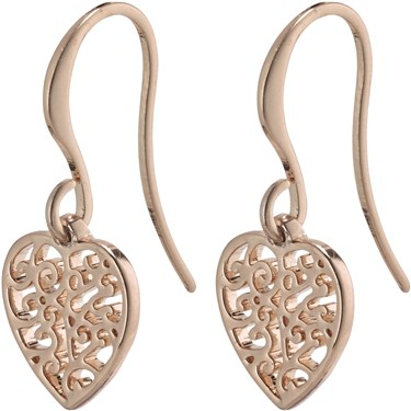 Pilgrim Rose Gold Felice Heart Earrings  - Click to view larger image