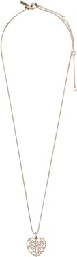 Pilgrim Rose Gold Felice Heart Necklace  - Click to view larger image