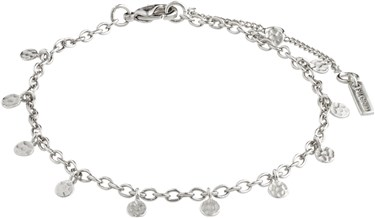 Pilgrim Silver Panna Disc Bracelet  - Click to view larger image