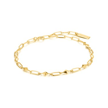 Ania Haie Gold Heavy Spike Bracelet  - Click to view larger image