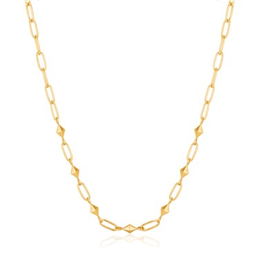Ania Haie Gold Heavy Spike Necklace  - Click to view larger image