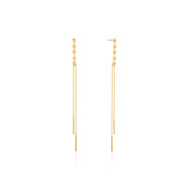 Ania Haie Gold Spike Double Drop Earrings  - Click to view larger image