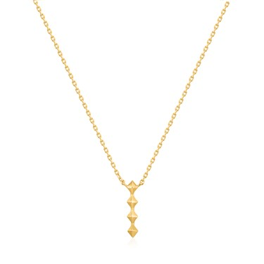 Ania Haie Gold Spike Drop Necklace  - Click to view larger image
