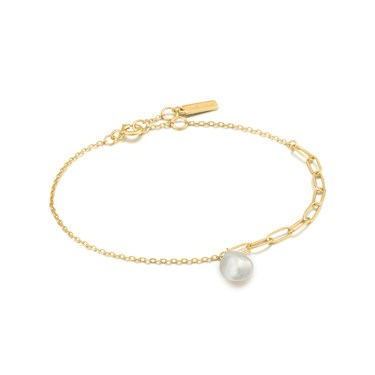 Ania Haie Gold Pearl Chunky Bracelet   - Click to view larger image