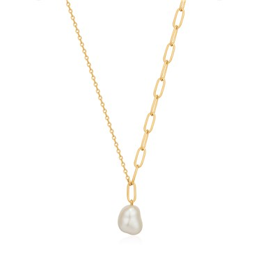 Ania Haie Gold Pearl Chunky Necklace  - Click to view larger image