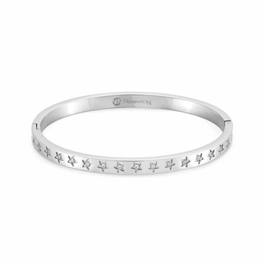 Nomination Silver Infinito Crystal Star Bangle  - Click to view larger image