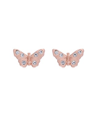 Olivia Burton Rose Gold Sparkle Butterfly Earrings  - Click to view larger image