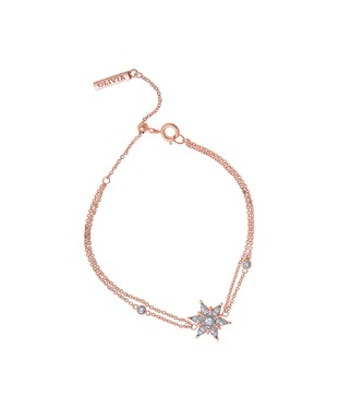 Olivia Burton Rose Gold Snowflake Bracelet   - Click to view larger image