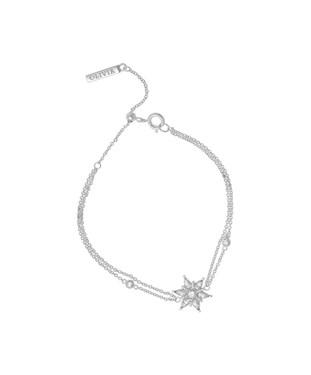 Olivia Burton Silver Snowflake Bracelet  - Click to view larger image