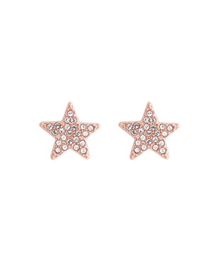 Olivia Burton Rose Gold Star Earrings  - Click to view larger image