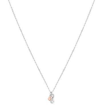 Argento Mixed Metal Mum Infinity Necklace  - Click to view larger image