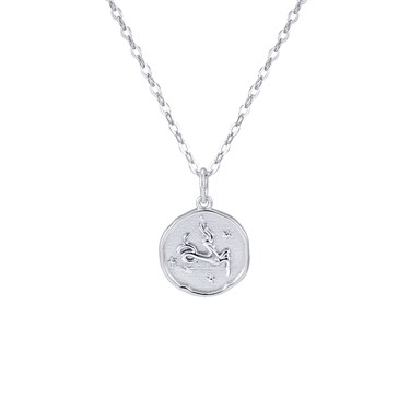 Argento Silver Capricorn Horoscope Necklace  - Click to view larger image