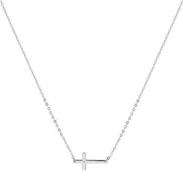 Argento Silver Engraving Cross Necklace  - Click to view larger image