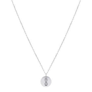 Argento Silver Infinity Coin Engraving Necklace  - Click to view larger image