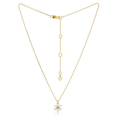 Kate Spade New York White Floral Bloom Necklace 1