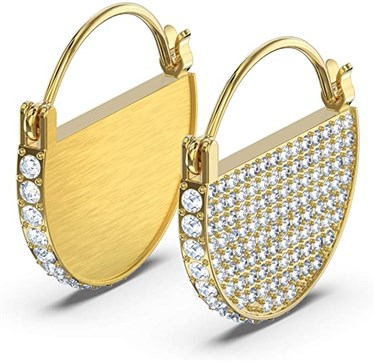 Swarovski Ginger Gold Hoop Earrings  - Click to view larger image