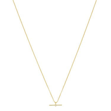 Argento Gold Petite T-Bar Crystal Necklace  - Click to view larger image