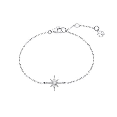 Argento Silver Midnight Star Bracelet  - Click to view larger image