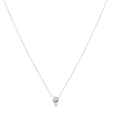 Argento Silver Crystal Forever Link Necklace  - Click to view larger image