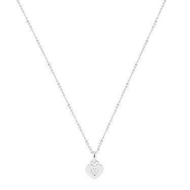 Argento Silver Crystal Heart Necklace  - Click to view larger image